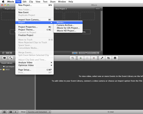 import iTunes videos into iMovie