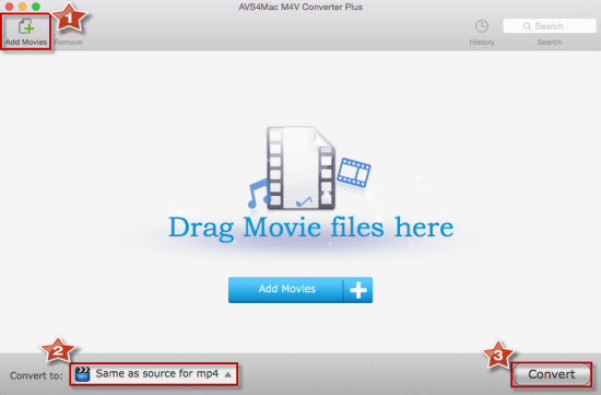 Convert iTunes M4V video to MP4